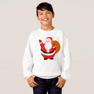 Fun modern cartoon of a jolly Santa Claus, Sweatshirt