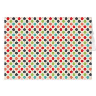Fun Modern Colorful Polka Dots Pattern Gifts Card