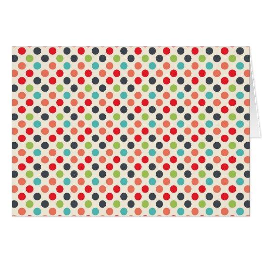 Fun Modern Colourful Polka Dots Pattern Gifts Card