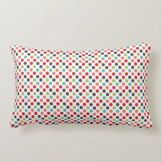 Fun Modern Colourful Polka Dots Pattern Gifts Lumbar Pillow