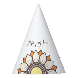 Fun Modern Floral Pattern Holiday Party Hat