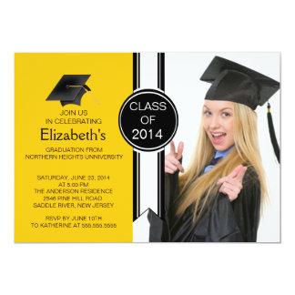 Fun Modern Graduate Photo Graduation Party Card