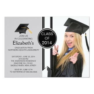 Fun Modern Graduate Photo Graduation Party 5x7 Paper Invitation Card
