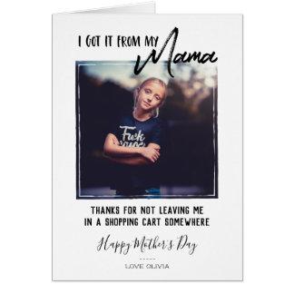 Fun Modern Mother's Day Photo Card