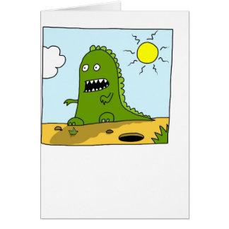 Fun monster kid's greeting card