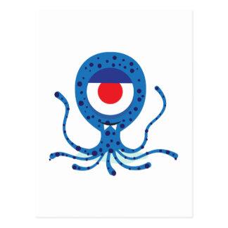 Fun Monster Squid Design Postcard