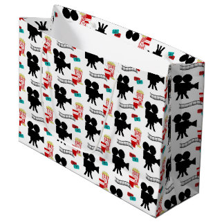 Fun Movie lovers party tiled gift bag