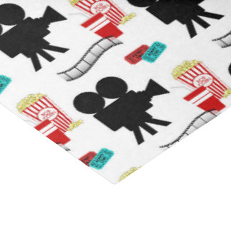 Fun Movie lovers tiled pattern party tissue Tissue Paper