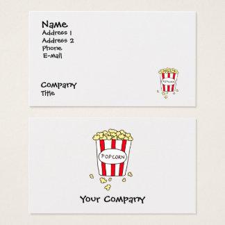 Fun Movie Theater Popcorn Diner Restaurant Business Card