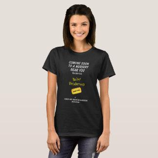 Fun Movie Theme Baby Announcement - T-Shirt
