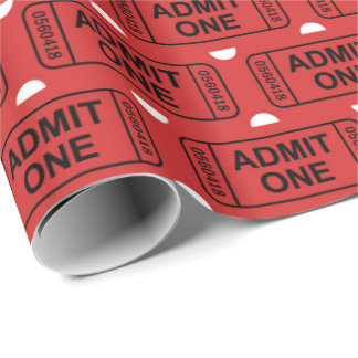 Fun Movie ticket party wrap Wrapping Paper