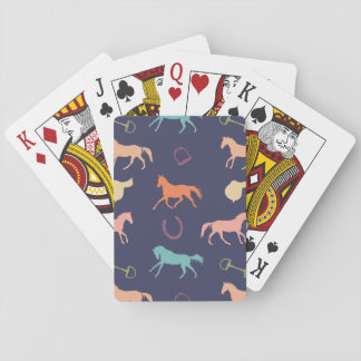 Fun Multicolor English Horse Pattern Playing Cards