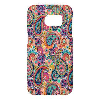 Fun Multicolor Paisley Pattern Samsung Galaxy S7 Case