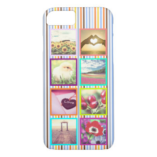 Fun multicolored personalized framed photo x8 iPhone 7 case