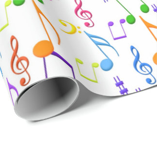 Fun Music notes pattern party wrap Wrapping Paper