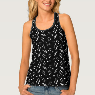 Fun Music Notes Pattern Tank Top