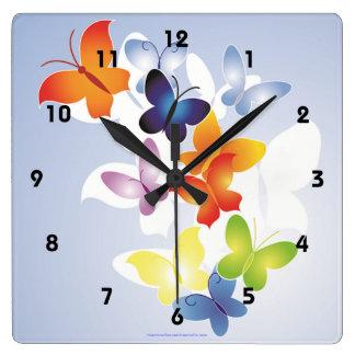 Fun N Colorful Square Wall Clocks