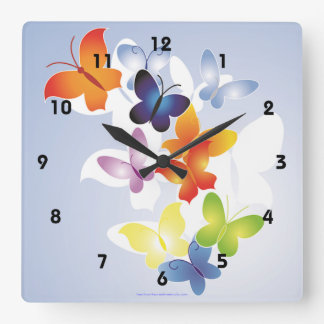 Fun 'N' Colorful Square Wall Clock