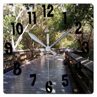 Fun Nature Walk Path Naples, FL Print Wall Clock