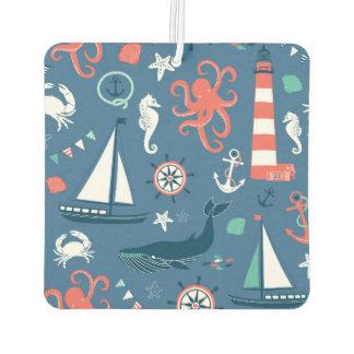 Fun Nautical Graphic Pattern Car Air Freshener