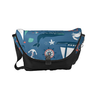 Fun Nautical Graphic Pattern Commuter Bag