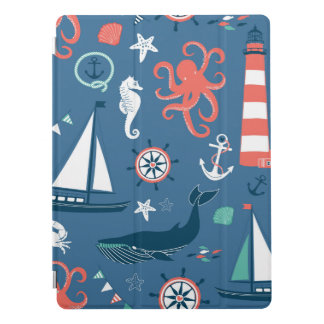 Fun Nautical Graphic Pattern iPad Pro Cover