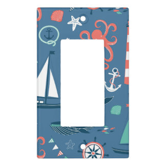 Fun Nautical Graphic Pattern Light Switch Cover
