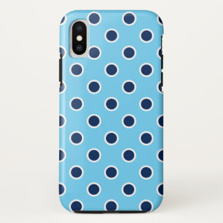 Fun Navy Polka Dots on Sky Blue Case-Mate iPhone Case