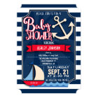 Fun, Navy, Red, & White Nautical Baby Shower Card