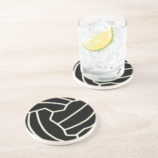 Fun Netball Themed Ball Print Design Coaster