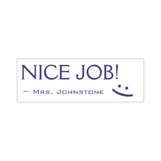 "Fun ""NICE JOB!"" Educator Rubber Stamp"