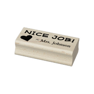 "Fun ""NICE JOB!"" Grading Rubber Stamp"