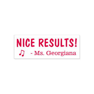 "Fun ""NICE RESULTS!"" Educator Rubber Stamp"
