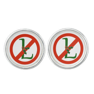 "Fun ""No L"" Noel Christmas Cufflinks"