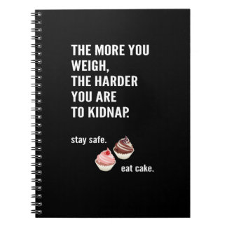 Fun note book. Anti-diet. Cake, sweets Notebooks