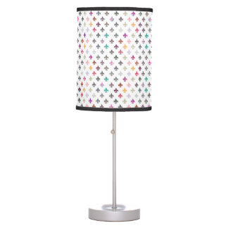 Fun Novelty Fleur de Lis Pattern Table Lamp