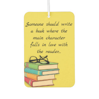 Fun Novelty Reading Books Geek Falls In Love Car Air Freshener
