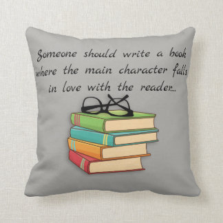 Fun Novelty Reading Books Geek Falls In Love Throw Pillow