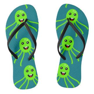 Fun Octopus Design Flip Flops