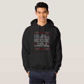 fun old fashioned , boone family christmas hoodie