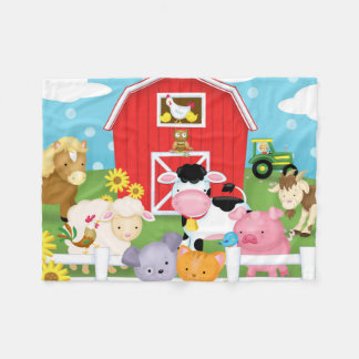 Fun on the Farm Flannel Blanket