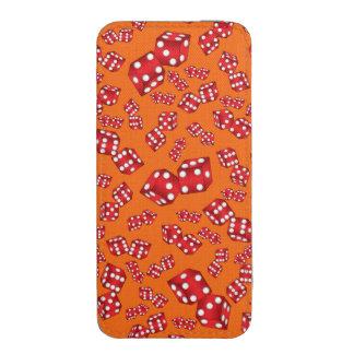 Fun orange dice pattern