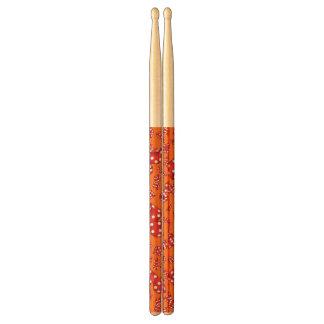 Fun orange dice pattern drumsticks