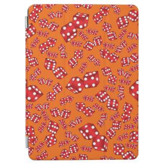 Fun orange dice pattern iPad air cover