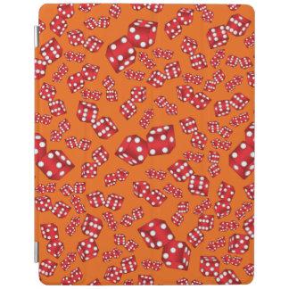 Fun orange dice pattern iPad cover