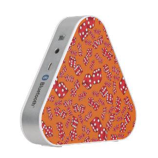 Fun orange dice pattern speaker
