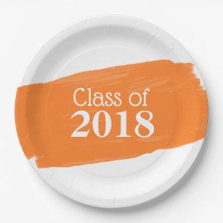 Fun Orange Oil Painting Graduation Design Paper Plate