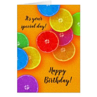 Fun orange slices Birthday Party Card
