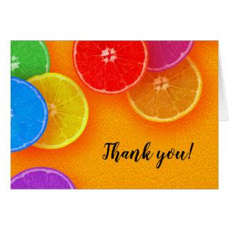 Fun orange slices Thank you Card