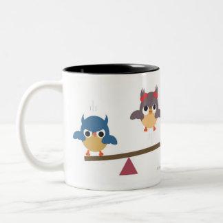 Fun Owls Two-Tone Coffee Mug